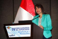 Ministra Magali Silva: Exportaciones de productos pesqueros para consumo humano directopodrían crecer 15% en el 2015