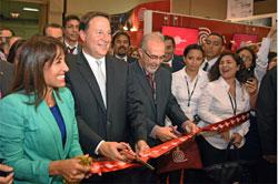Ministra Magali Silva y Presidente de Panamá inauguran pabellón peruano de Expocomer 2015