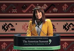 Ministra Magali Silva clausura exitosa Cumbre Mundial de Viajes y Turismo Américas 2014 en Lima