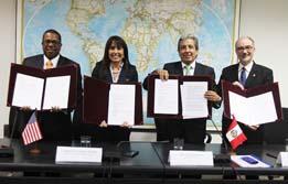 Perú y Estados Unidos firman Entendimiento que establece la Secretaría para asuntos ambientales en el marco del TLC