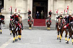 Ministra Magali Silva encabezó Cambio de Guardia Montada en Palacio de Gobierno