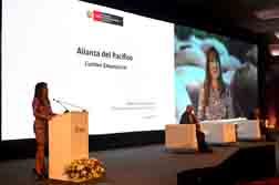 Ministra Magali Silva inaugura III Cumbre Empresarial de la Alianza del Pacífico