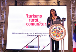 La OEA puede ser un gran aliado para impulsar el Turismo Rural Comunitario, afirma ministra Magali Silva
