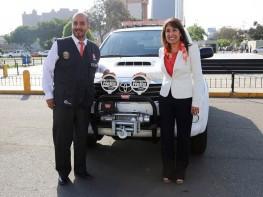 Ministra Magali Silva entregó equipos y camionetas para reforzar la seguridad de los turistas que practican deporte de aventura en Cusco