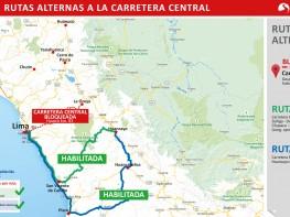 Comunicado: Se habilitan rutas alternas tras bloqueo en la Carretera Central