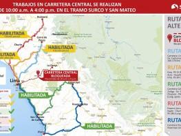 Comunicado: Se restablece el tránsito de manera restringida en la Carretera Central para buses