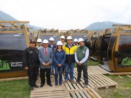 Ministra Silva recibió en Amazonas las 26 telecabinas que se instalarán en el teleférico de Kuélap, el primero en el Perú