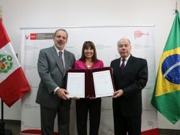 Perú y Brasil firmaron acuerdos para profundizar las relaciones comerciales bilaterales