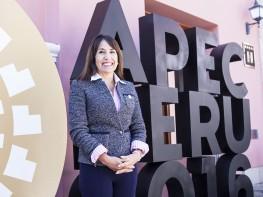 Ministra Magali Silva inicia labores en el marco del Foro APEC 2016