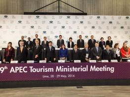 Ministros de Turismo de APEC acuerdan ejecutar estrategias para lograr que al 2025 circulen 800 millones de turistas en la región Asia Pacífico
