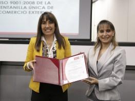 Ventanilla Única de Comercio Exterior obtiene Certificación de su Sistema de Gestión de Calidad según norma ISO 9001:2008