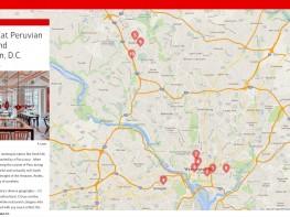 Portal de EE.UU. elabora mapa interactivo sobre la gastronomía peruana en Washington D.C.