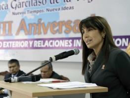 Ministra Silva participó en la celebración del 8vo Aniversario de la facultad de Comercio Exterior y Relaciones Internacionales de la UIGV