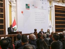 Ministro Ferreyros: Agenda 2030 de la ONU permitirá avanzar en la erradicación de la pobreza y disminución de la desigualdad social