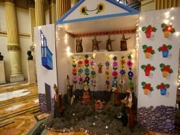 Artesanos peruanos elaboran hermoso nacimiento en Palacio de Gobierno